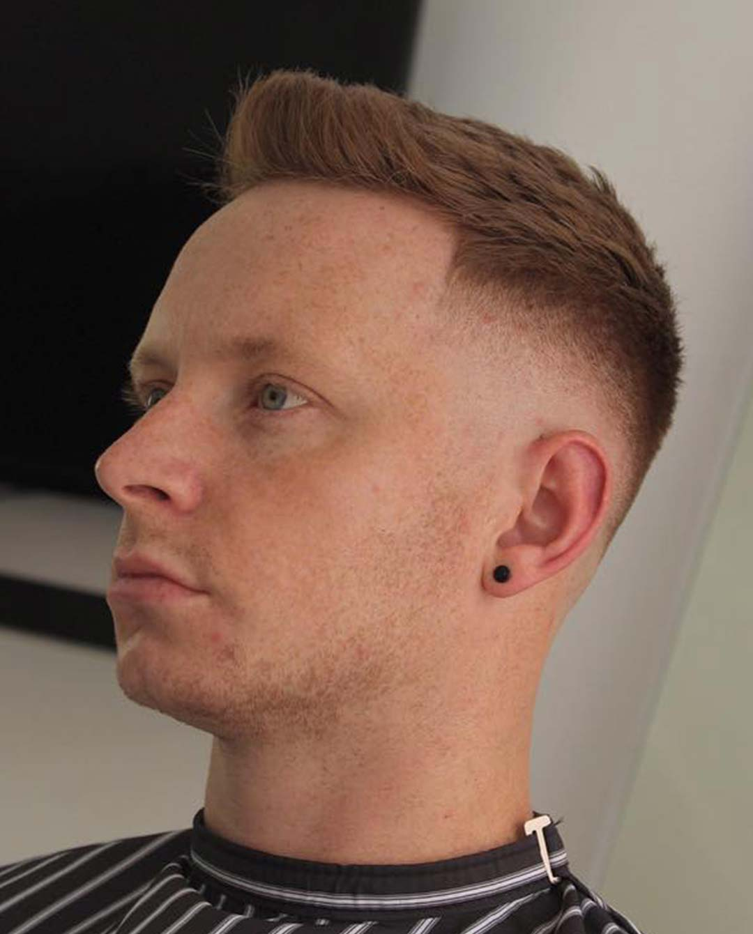 Quiff with High Fade