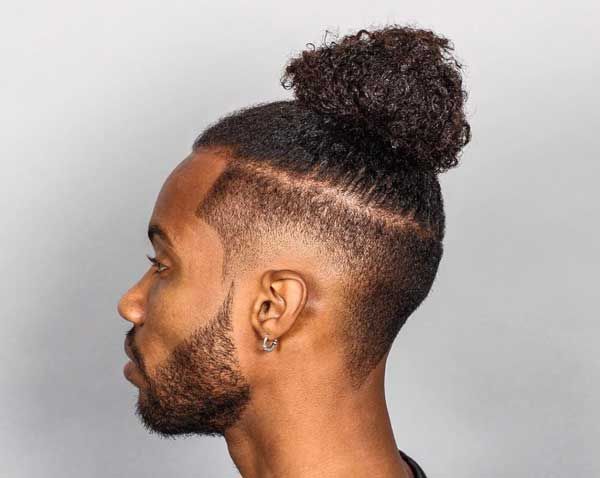 Curly Top Knot hairstyle
