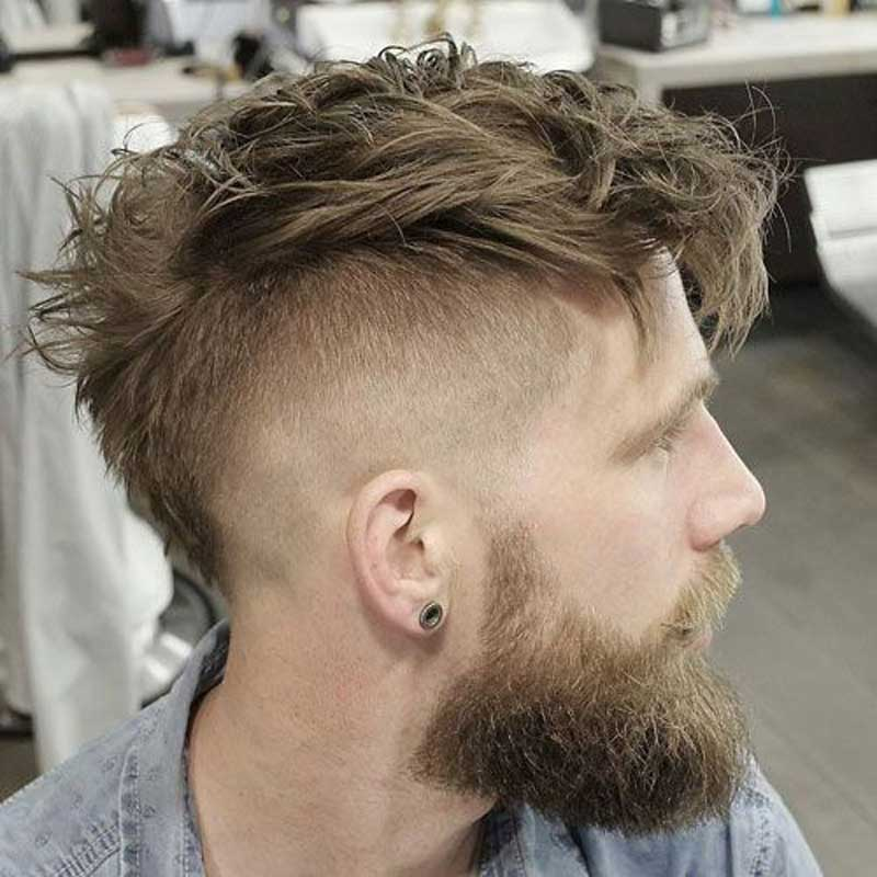 High Fade Faux Hawk haircut