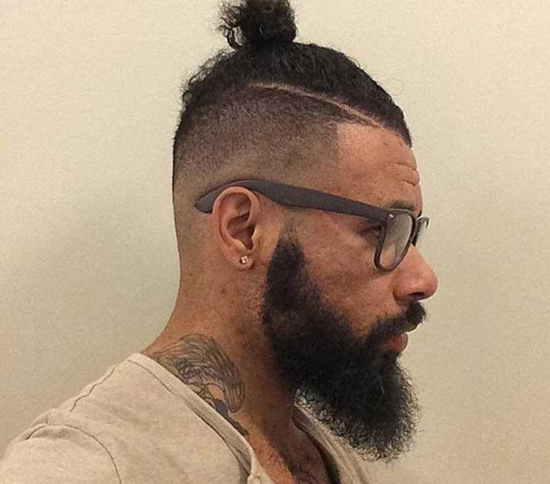 Curly Man Bun hairstyle