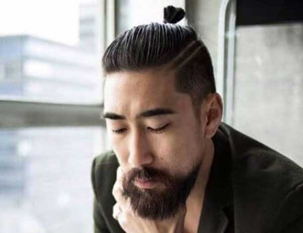 Textured Top Knot hairstyle