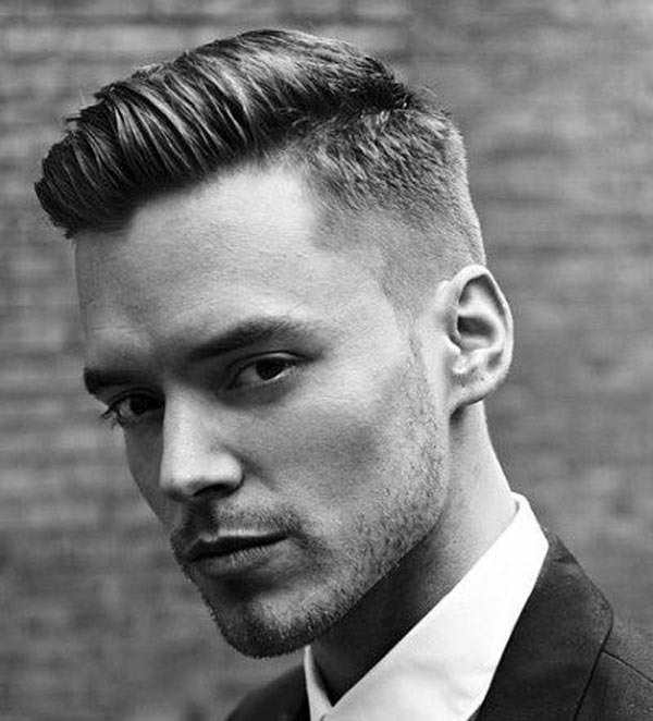Comb Over with Tapered Fade haircut