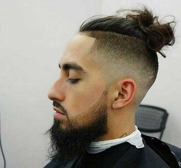 Messy Mohawk Top Knot hairstyle