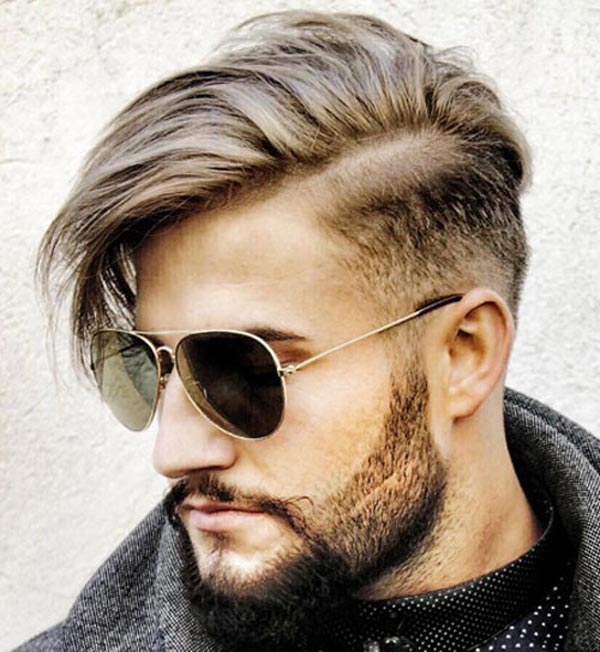 Side Part with Blurry Fade haircut