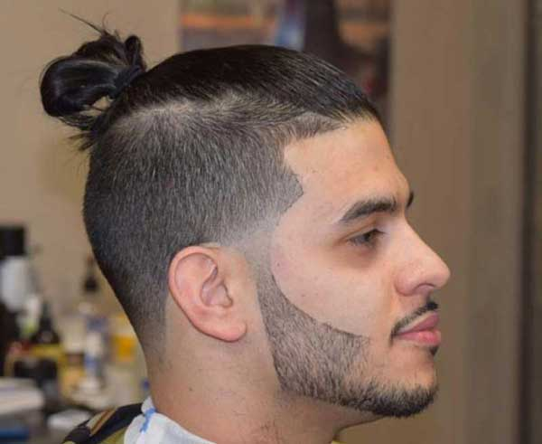 Back Looped Man Bun hairstyle