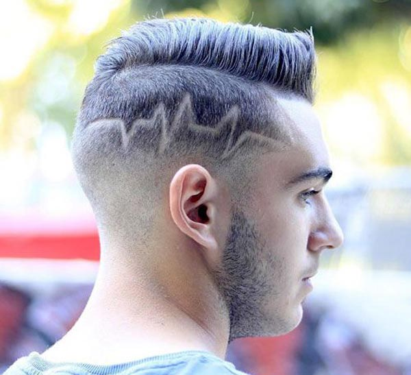 Pompadour with Low Artistic Fade haircut