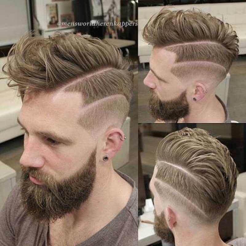 Edgy Fohawk haircut