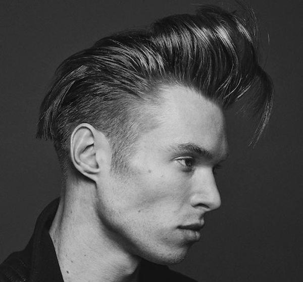 Long Fringe with low Fade haircut