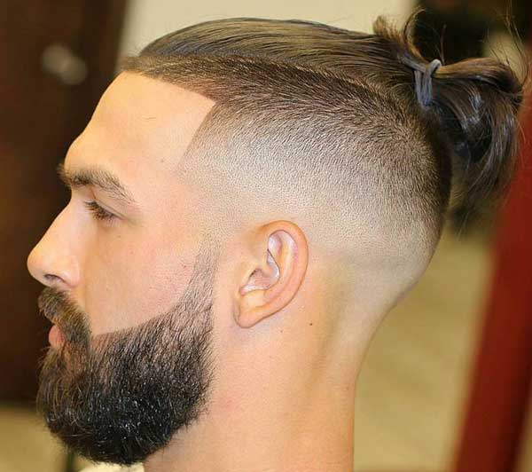 Sleek Mohawk Man Bun hairstyle