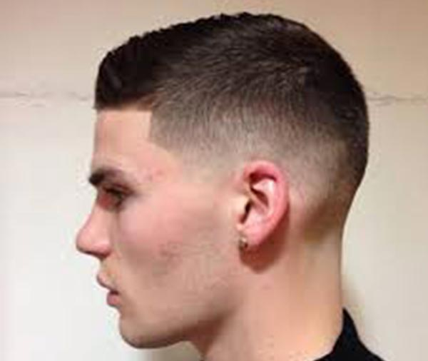 Crew cut with Low Fade haircut