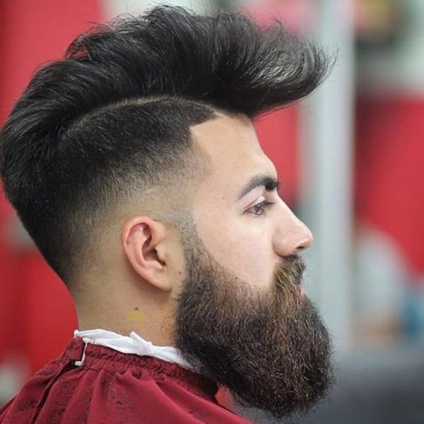 Mohawk with Low Fade haircut