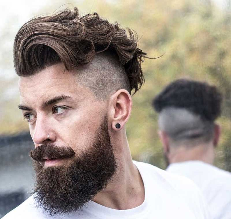 Edgy Hipster Mohawk haircut