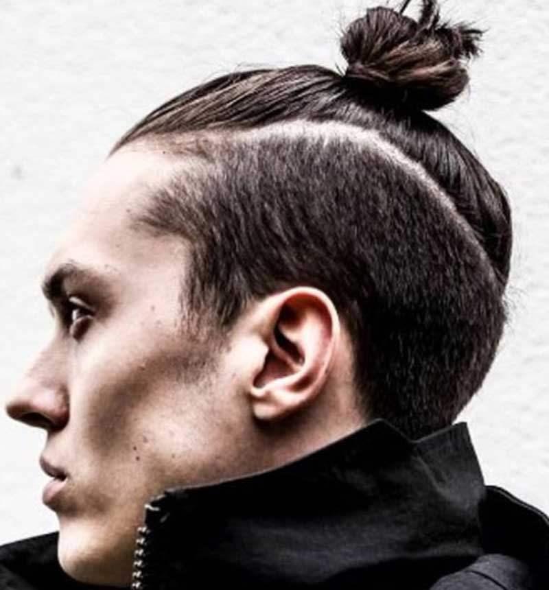Top Knot Man Bun hairstyle