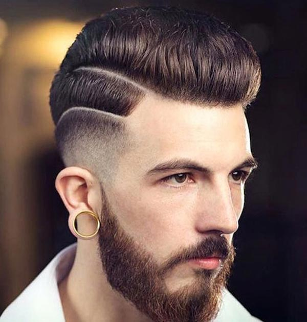 Dipped High-Low Tapered Fade haircut