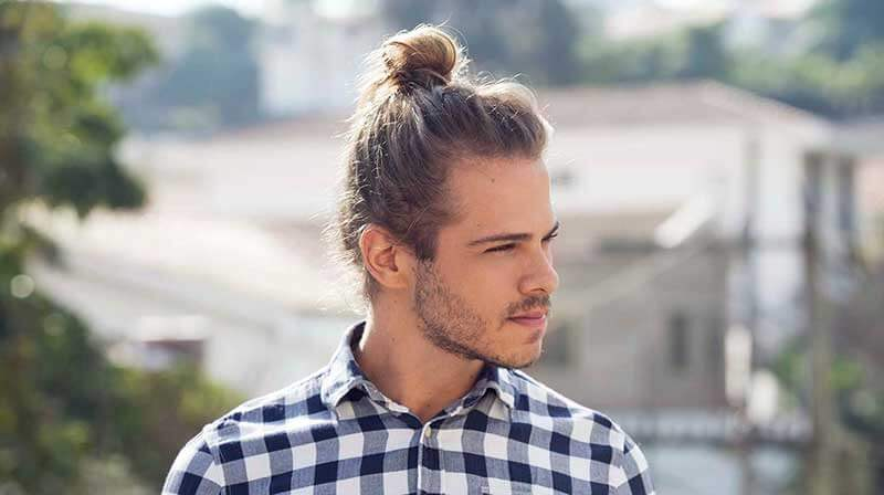 High man bun_long hair