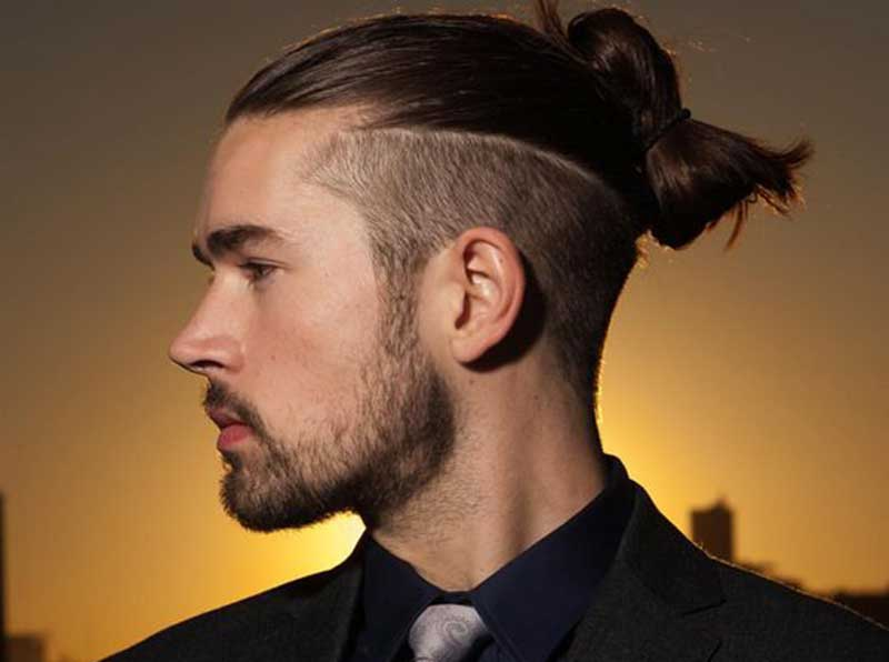 Man bun undercut_Long hair