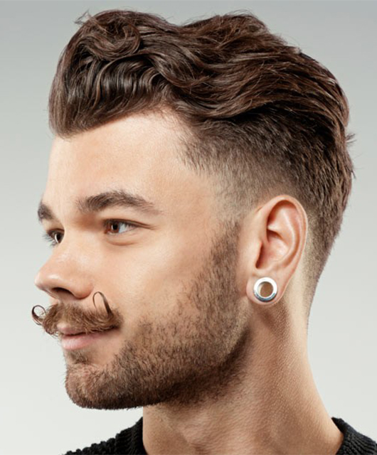 hipster hairstyle with beard