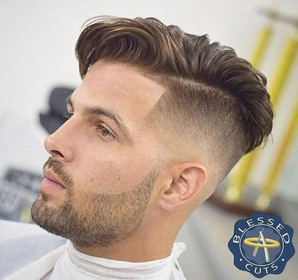 Modern Spin Comb Over Hairstyle