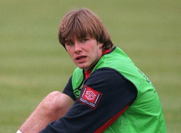 David Beckham with Hair Bangs