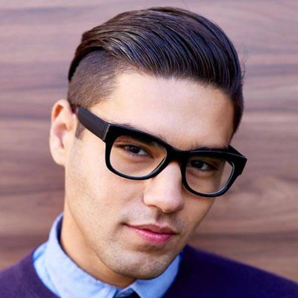 Slicked Back Comb Over haircut