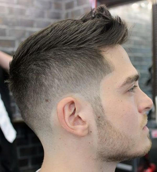 Spiky Mid Fade Ivy League haircut
