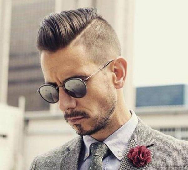 Pomp-Style Comb Over haircut