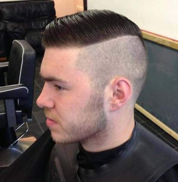 Smooth Swept Classic Comb Over haircut