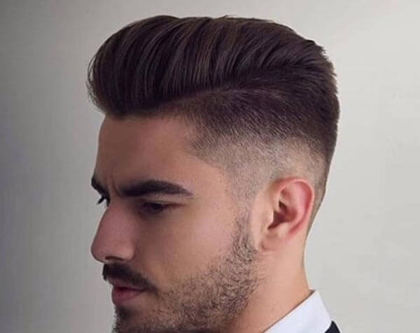 High-Front Comb Over haircut