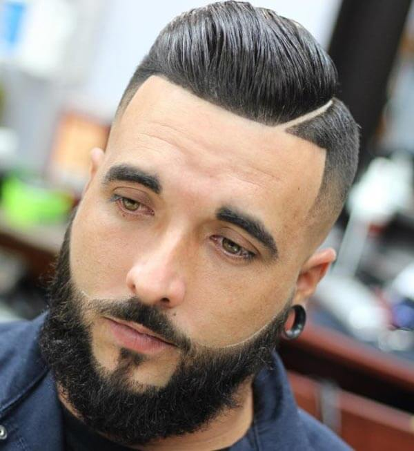 Smooth Diagonal Parted Comb Over haircut