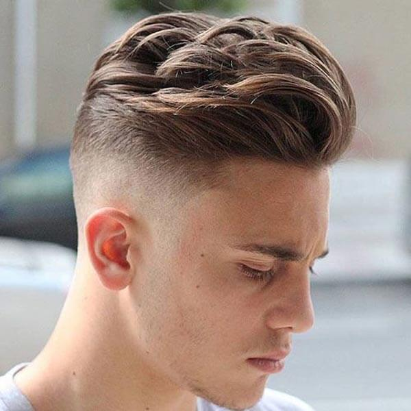 Textured Disheveled Comb Over haircut