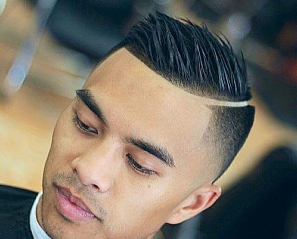 Spiky Textured Comb Over haircut