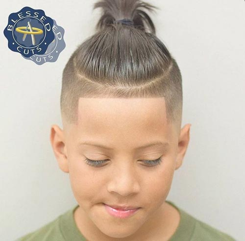 Disconnected Top Knot - Toddler Boy Haircut