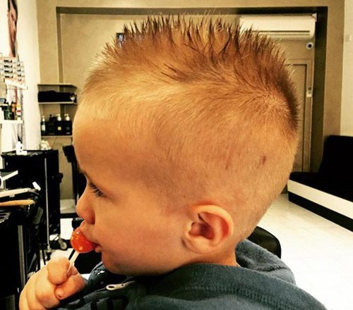 Spiky Waxed Top - Toddler Boy Haircuts