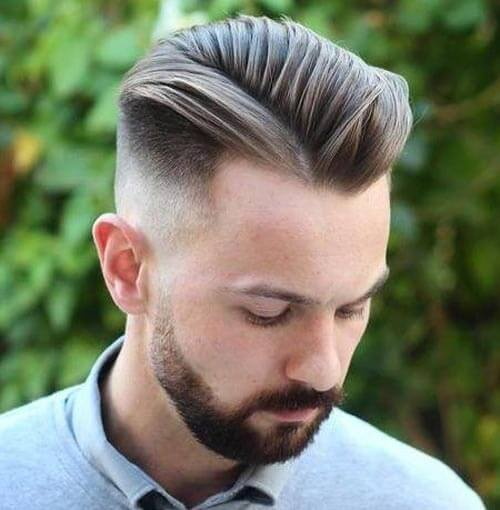 Layered Hairstyle with Medium Fade Quiff