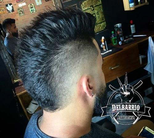 Textured Mohawk With Low Fade