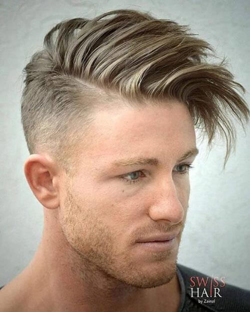 Fade with Textured Quiff