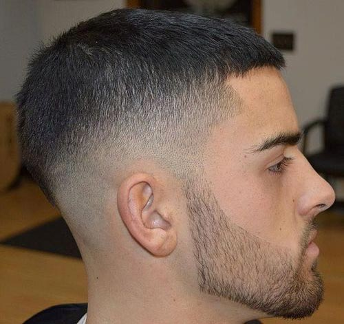 Dark Caesar Fade Haircut