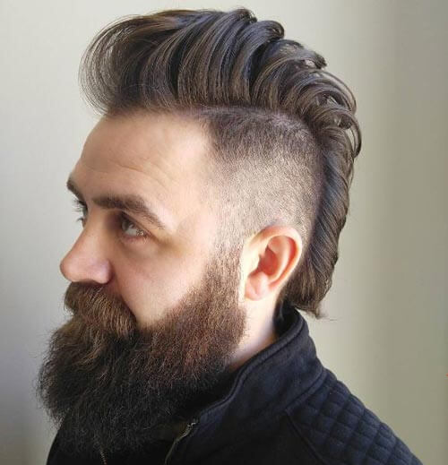Tapered Mohawk with Pompadour