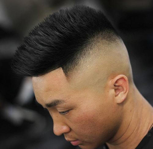 Spiky High Fade Mohawk