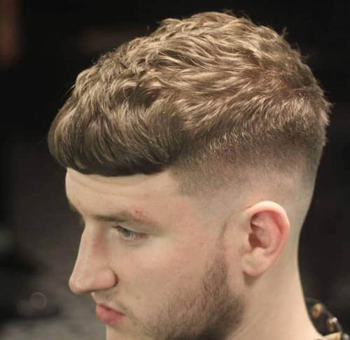 Vintage Caesar with Taper Fade