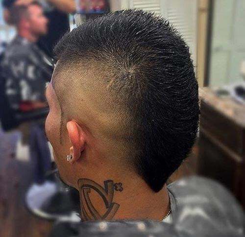 V-cut Mohawk With High Fade