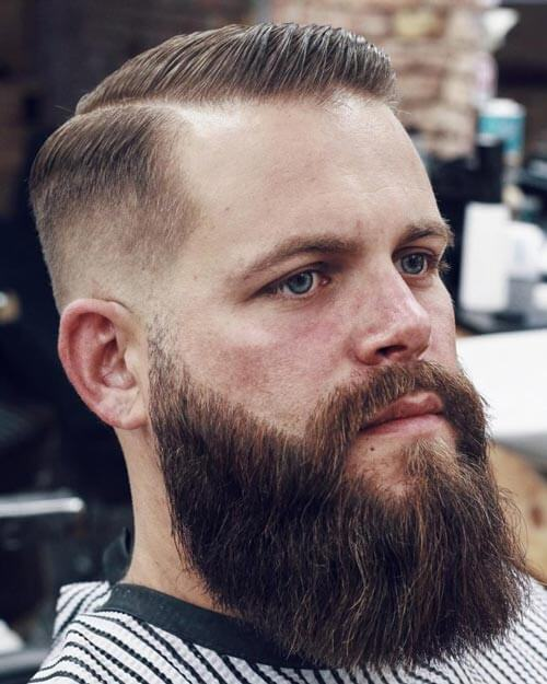 Deep Parted High Fade With beard