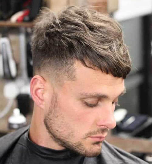 Textured Top with Caesar Fade