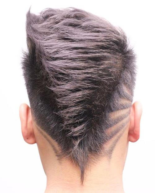 V-shaped Neckline With Design Haircut