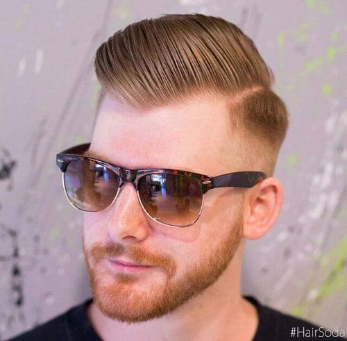 Comb Over with High Skin fade