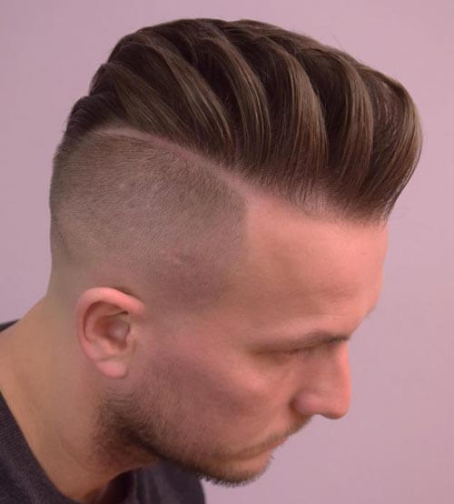 Textured Comb Over with Undercut
