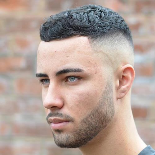 Short Curly Crew Cut Haircut