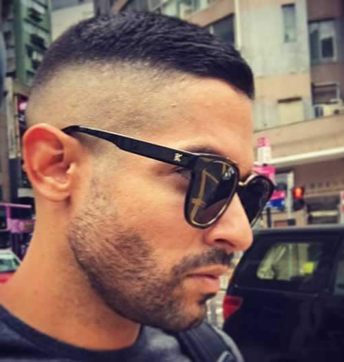 High and Tight with Bald Fade Sides