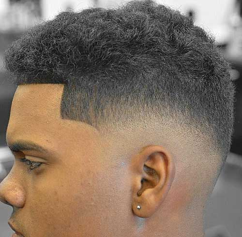 Skin Fade with Curly Top