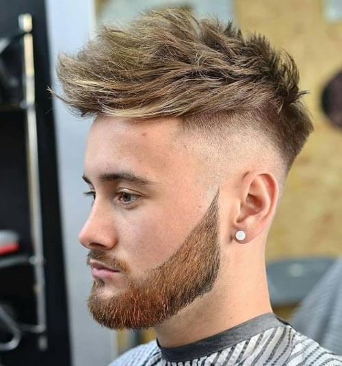 Textured Haircut with Beard